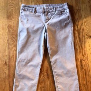 Old Navy, Pixie, Light Gray Cropped Pant, Sz 8 Reg